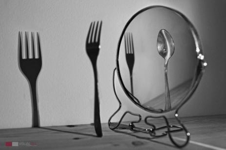 Espejo tenedor